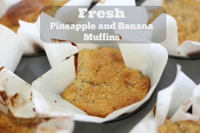 Fresh Pineapple and Banana Muffins ~ Peaceful Parents, Confident Kids
